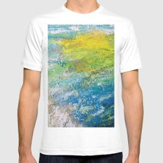 Bright Painting! MEDIUM Mens Fitted Tee White