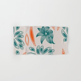 pattern with flowers and leaves Hand & Bath Towel
