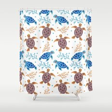 The Sea Turtle Pattern Shower Curtain