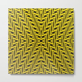 Yellow geometrical lines Metal Print