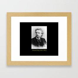 Elliot and Fry - Portrait of Grieg Framed Art Print