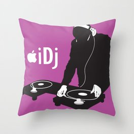 I DJ (Pink)  Throw Pillow