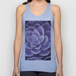 succulent Blossom violet color Unisex Tank Top