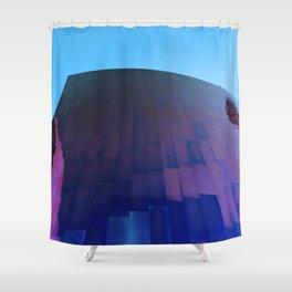 Wall Meets Sky Shower Curtain