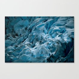 Blue Ice Glacier in Norway - Landscape Photography Canvas Print