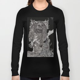 Tree Stump Yeti Long Sleeve T-shirt