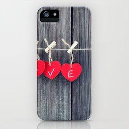 Romantic valentine iPhone Case