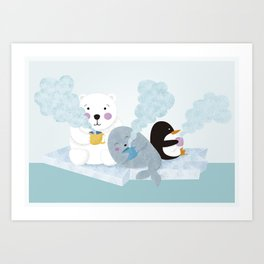 polar coffe Art Print