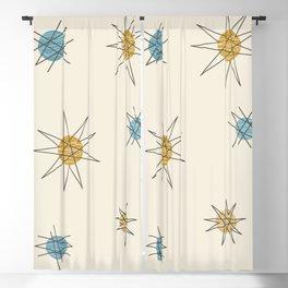 Atomic Age Sputnik Starburst Planets Blackout Curtain