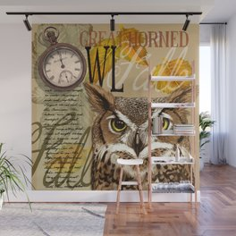 The Great Horned Owl Wall Mural