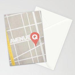 AVENUE Q Minimal Musicals  Stationery Cards