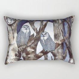 Night Owls by Maureen Donovan Rectangular Pillow