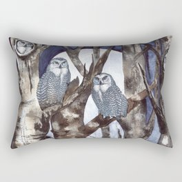 Night Owls by Maureen Donovan Rectangular Pillow