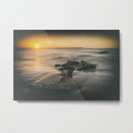 Cabedelo beach in the city of Viana do Castelo, Portugal Metal Print