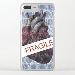 Fragile heart Clear iPhone Case