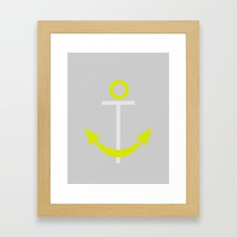 Anchor with Background Framed Art Print