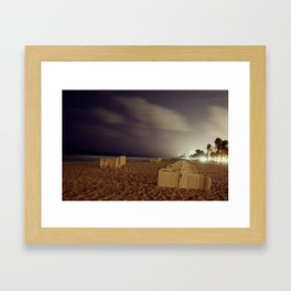 Only at night Framed Art Print