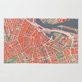Amsterdam city map classic Rug