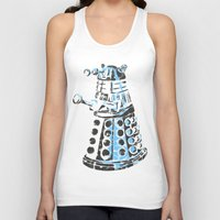 dalek Tank Tops featuring Dalek Graffiti by spacemonkey89