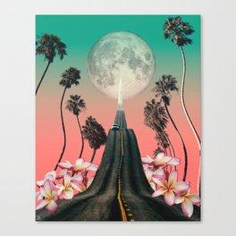 Lunar Tides - Collage Art Canvas Print