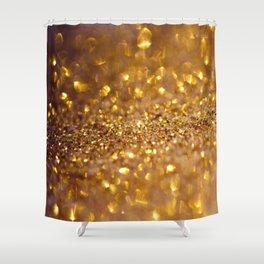 Golden glitter #society6 Shower Curtain