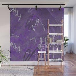 A la luna de Valencia - Purple Wall Mural