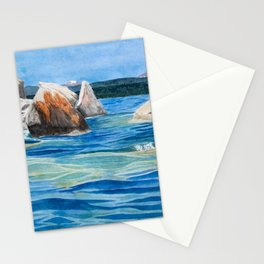 Buck's Beach Boulders Stationery Cards