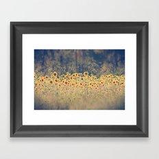 Field of Sunflowers Framed Art Print