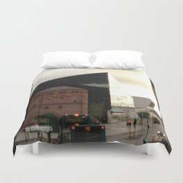 Contrasts of times in Liverpool Duvet Cover
