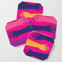 Hands of Fuschia Coaster