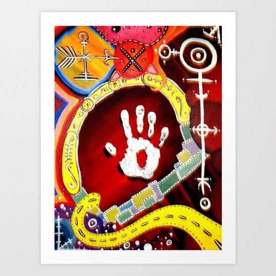 Sinaj (Abstract) Art Print
