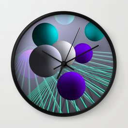 converging lines and balls -4- Wall Clock
