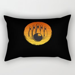 Vintage Bowling for Bowlers in a League or Gift Rectangular Pillow