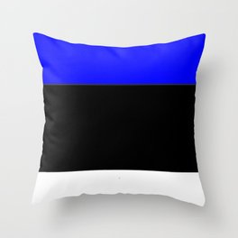 Flag of estonia 2-estonian,baltic,tallinn,tartu,eesti,balti,slav,viking,baltico,parnu Throw Pillow