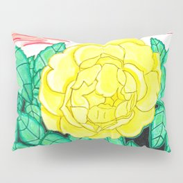 Sunset Rose Watercolor Pillow Sham