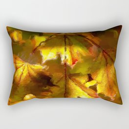Sun kissed Sycamore leaves Rectangular Pillow
