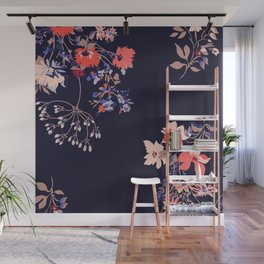 Colorful Night Roses Wall Mural