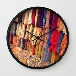 Dyed silk in Kusadasi, Turkey Wall Clock