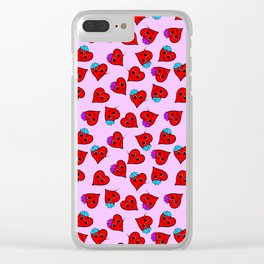 love sick on pink Clear iPhone Case
