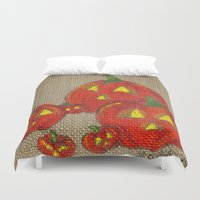 lantern Duvet Covers featuring Lantern Patch by KristenOKeefeArt