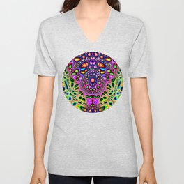 Abstract Spectral Symmetry Unisex V-Neck