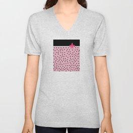 Pink Black Collection Unisex V-Neck
