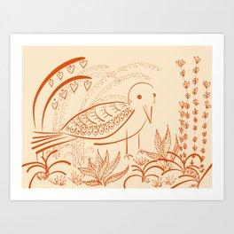 the well loved garden Art Print