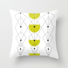 50ies Green Throw Pillow