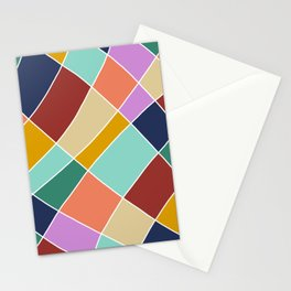 Abstract Retro Painting Stationery Cards