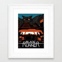 blade runner Framed Art Prints featuring Blade Runner by Stephanie Shafer