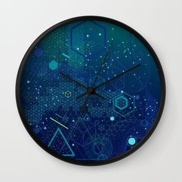 Symbols and elements of Sacred geometry Wall Clock
