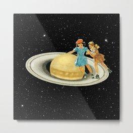 Stroll on Saturn Metal Print