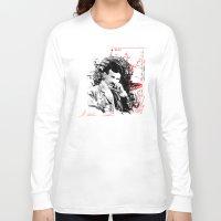 tesla Long Sleeve T-shirts featuring Nikola Tesla by viva la revolucion
