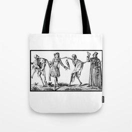 """We Dance With Death"" Plague Art Tote Bag"